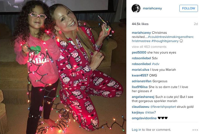 Mariah Carey's daughter Monroe in Chaser Brand