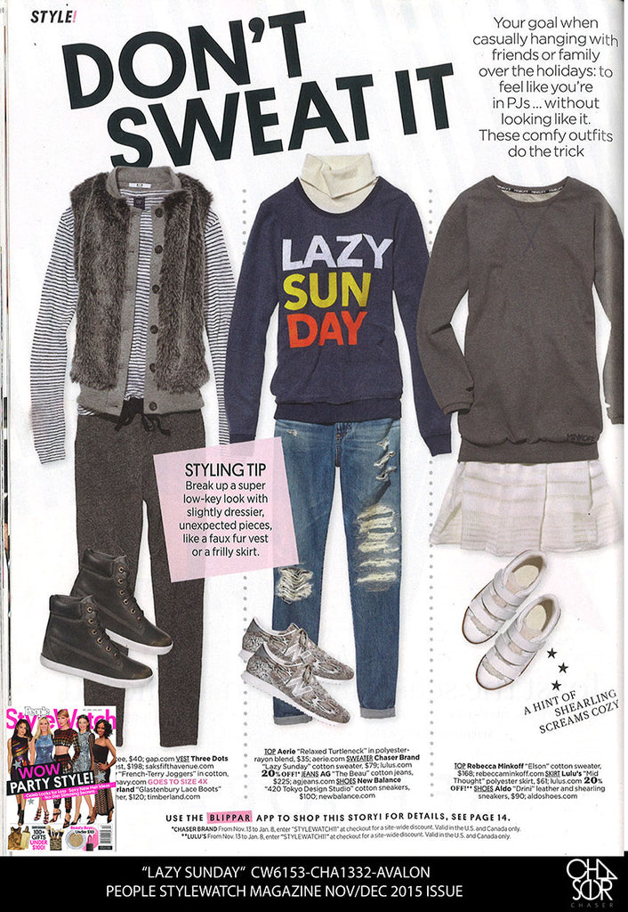 Chaser in the Nov/Dec issue of People Stylewatch!