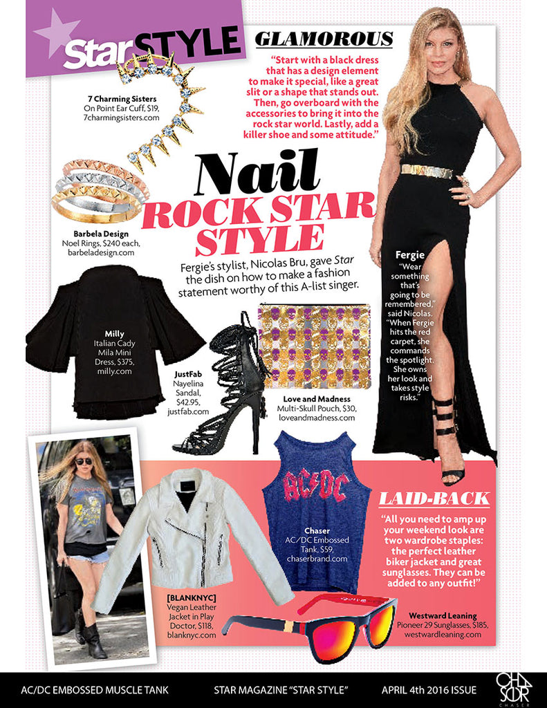 Chaser Brand in Star Magazine Star Styles Section