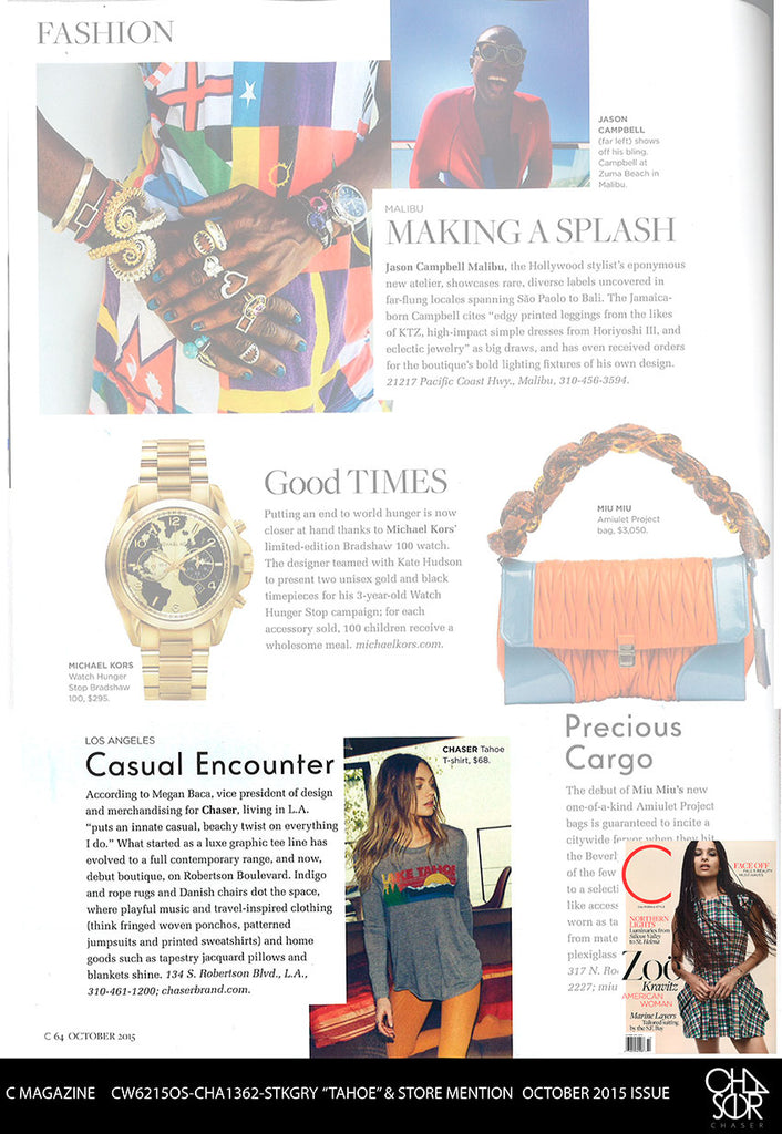 C Magazine Features Chaser's new store!