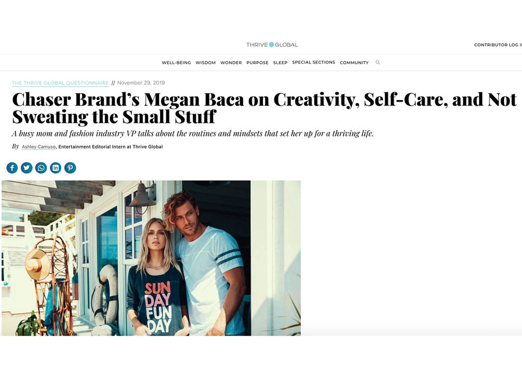 Chaser Brand's Megan Baca on Creativity, Self-Care, and Not Sweating the Small Stuff