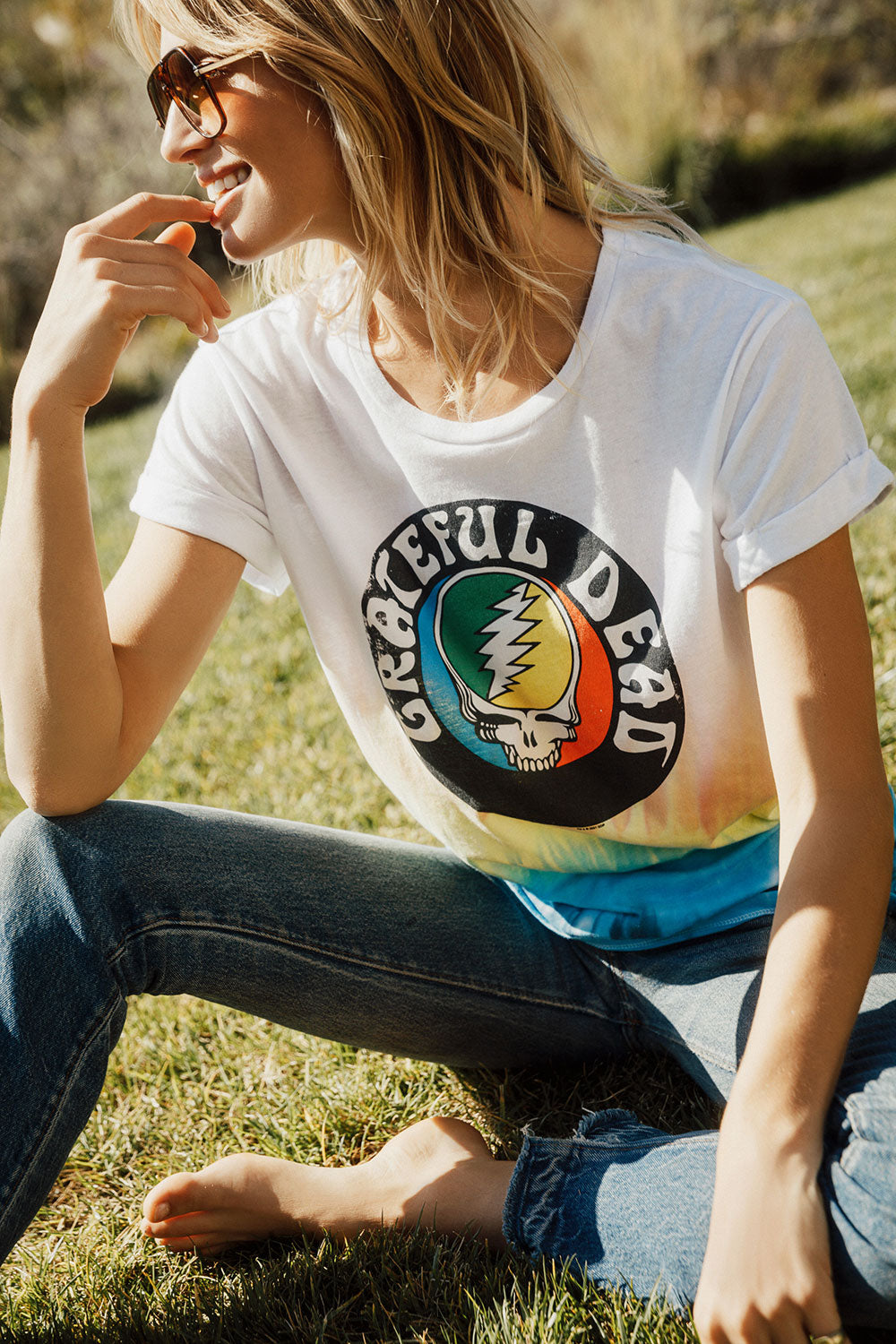 Grateful Dead - Steal Your Face Tie Dye WOMENS - chaserbrand