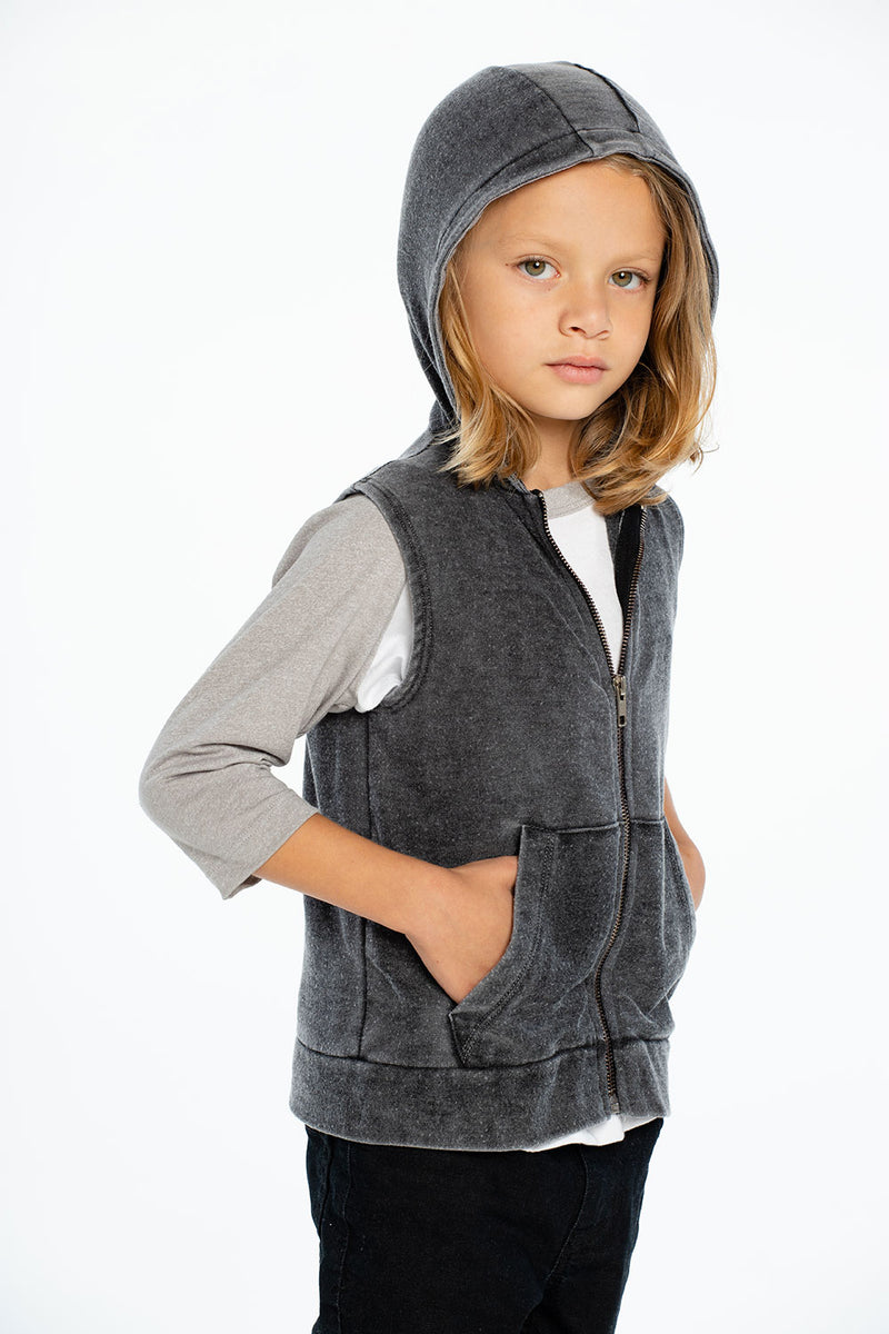 Cozy Knit Sleeveless Zip Up Hoodie BOYS chaserbrand4.myshopify.com