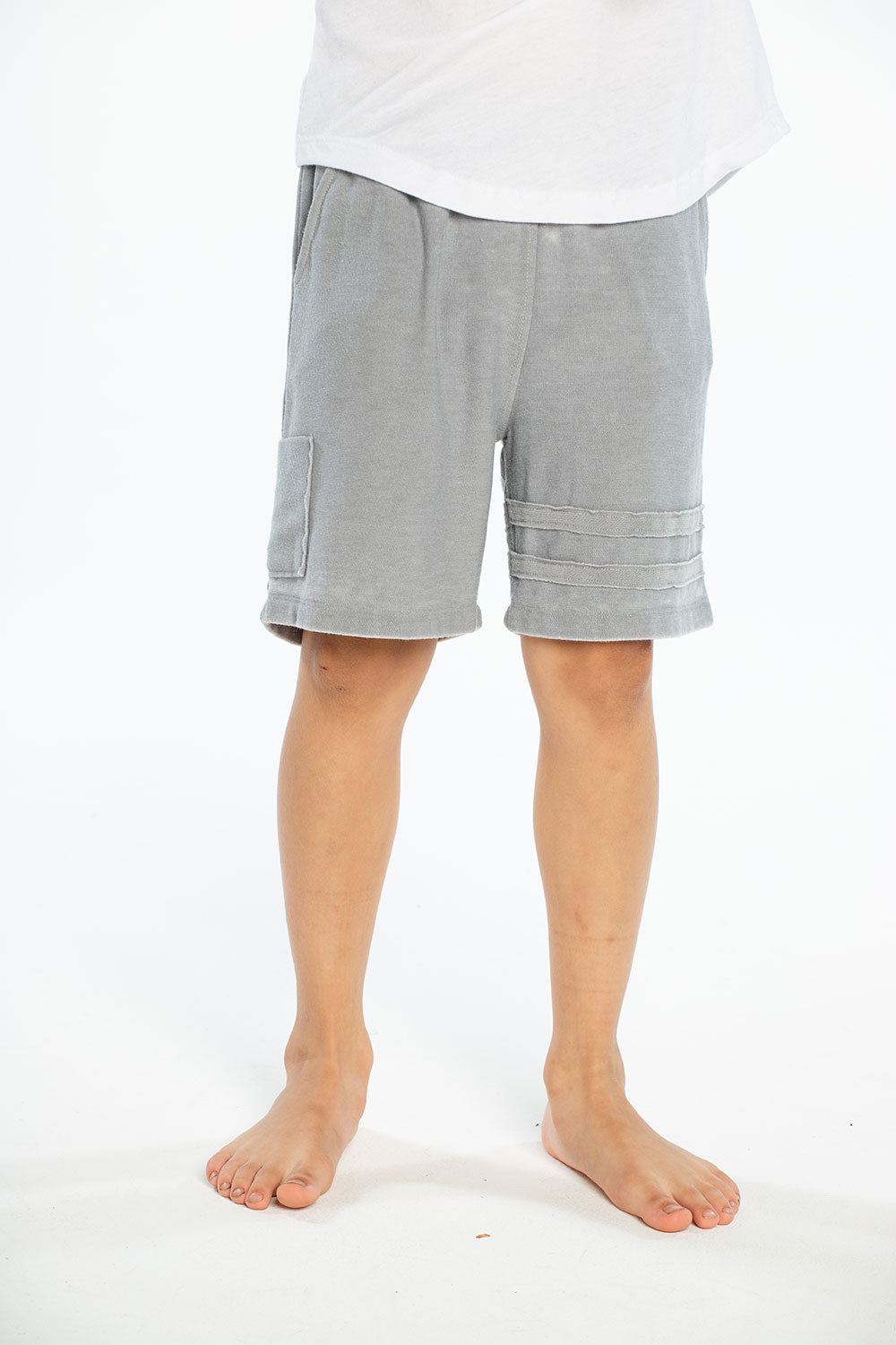 Cozy Knit Cargo Shorts W/ Strappings, BOYS, chaserbrand.com,chaser clothing,chaser apparel,chaser los angeles