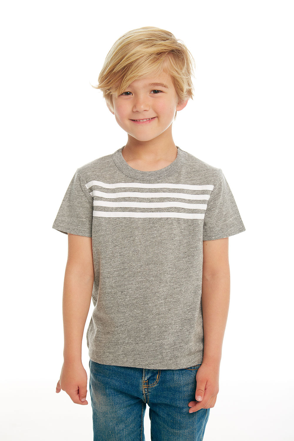 Boys Triblend Jersey Short Sleeve Tee with Strappings BOYS chaserbrand4.myshopify.com