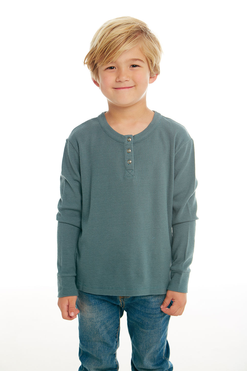 Boys Thermal Long Sleeve Henley, BOYS, chaserbrand.com,chaser clothing,chaser apparel,chaser los angeles