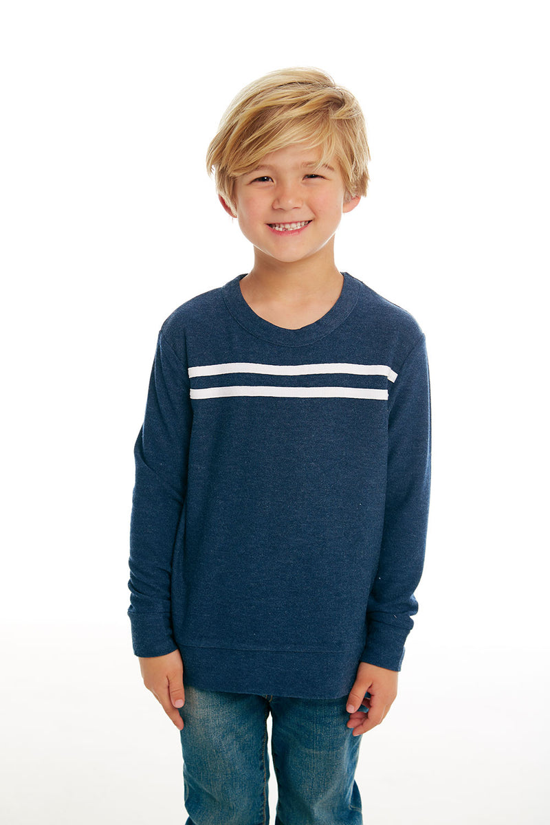 Boys Cozy Knit Long Sleeve Crew Neck Pullover with Strappings, BOYS, chaserbrand.com,chaser clothing,chaser apparel,chaser los angeles