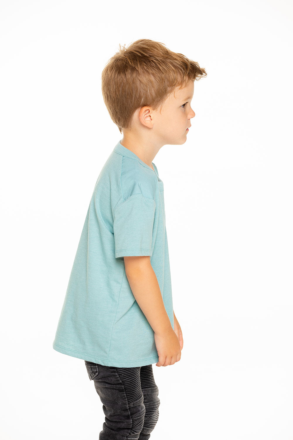 Boys Recycled Vintage Jersey Poplin Blocked Pocket Tee Recycled - chaserbrand