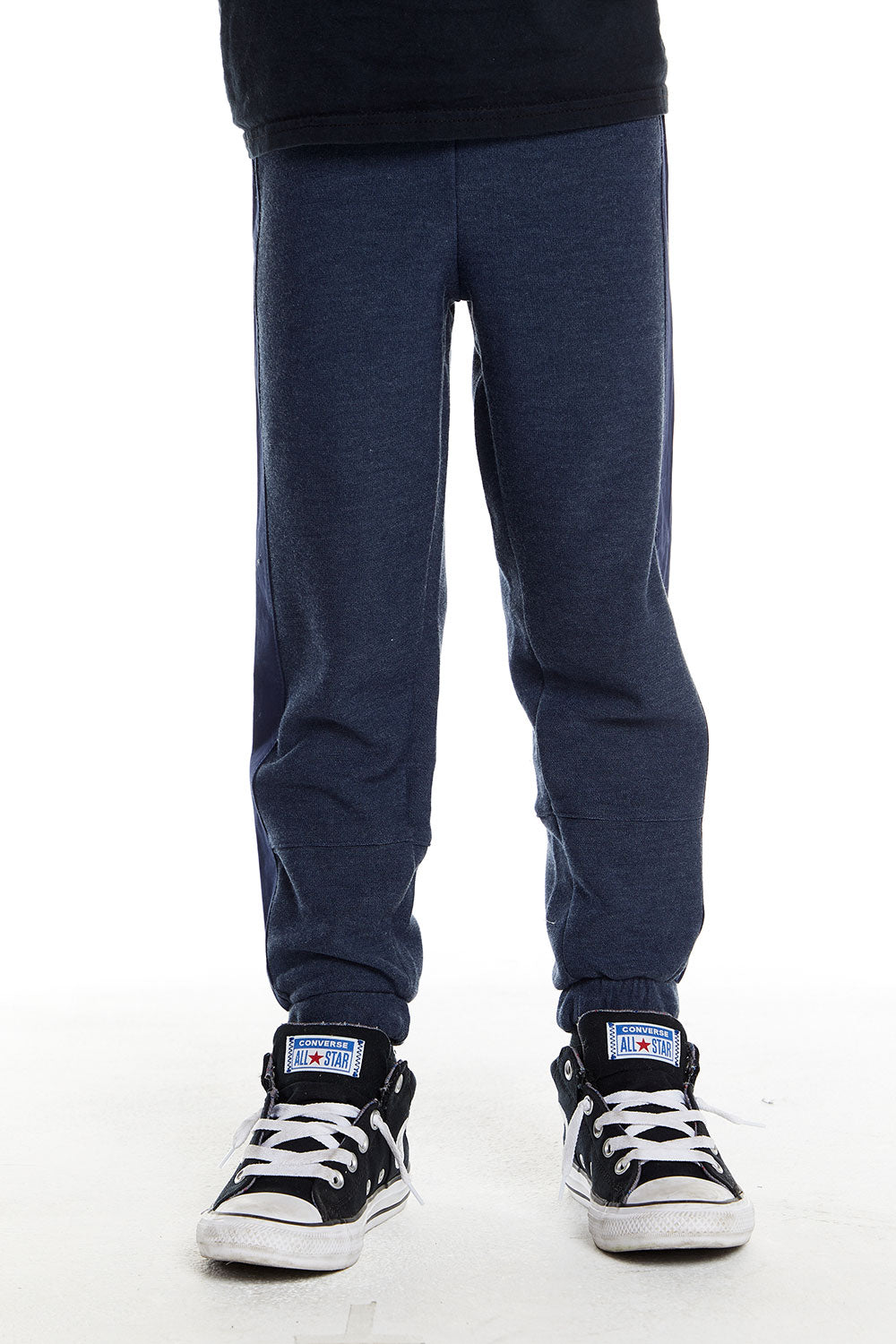 Boys Cozy Knit Poplin Blocked Track Pant in Avalon Blue