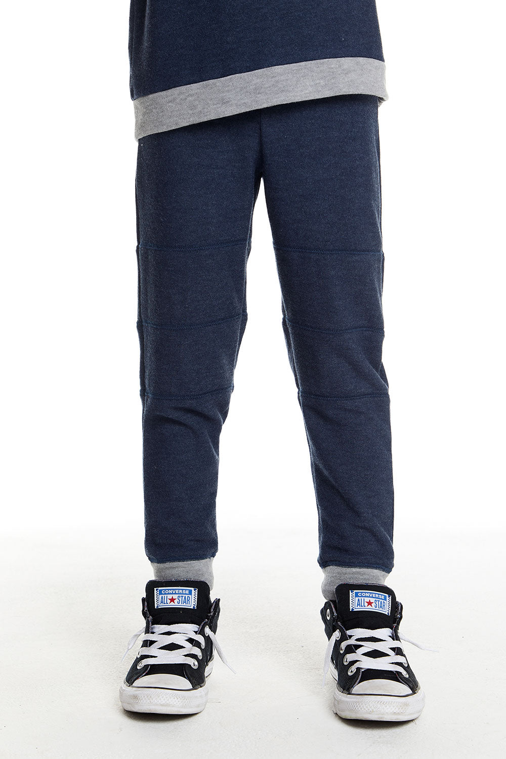 Boys Cozy Knit Contrast Panel Jogger in Avalon Blue BOYS chaserbrand4.myshopify.com