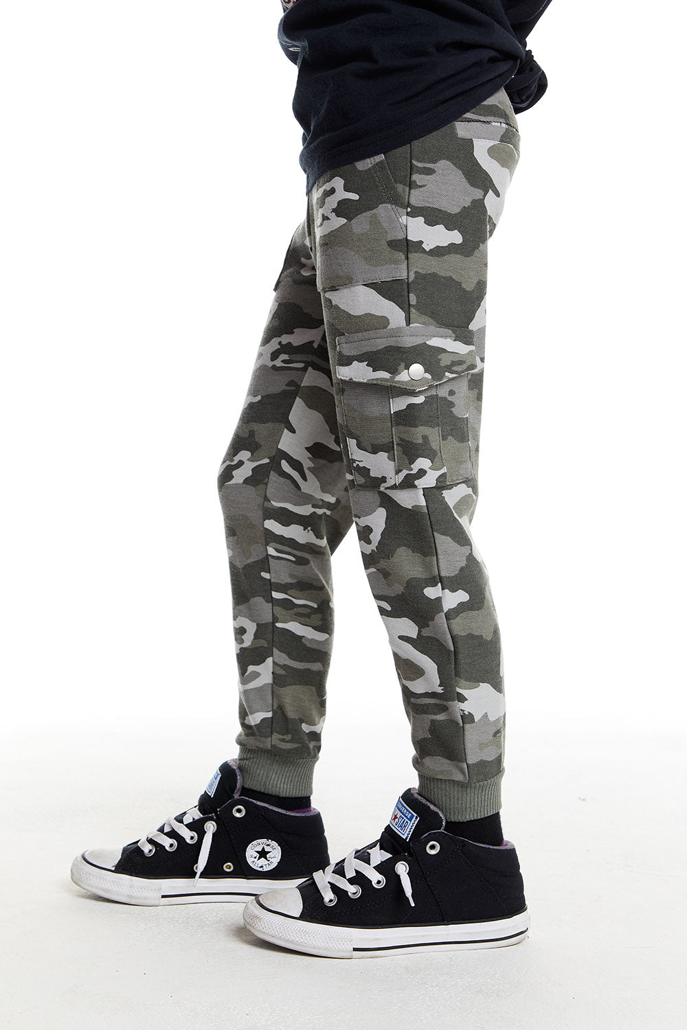 Boys Love Knit Cargo Jogger with Rib BOYS chaserbrand4.myshopify.com