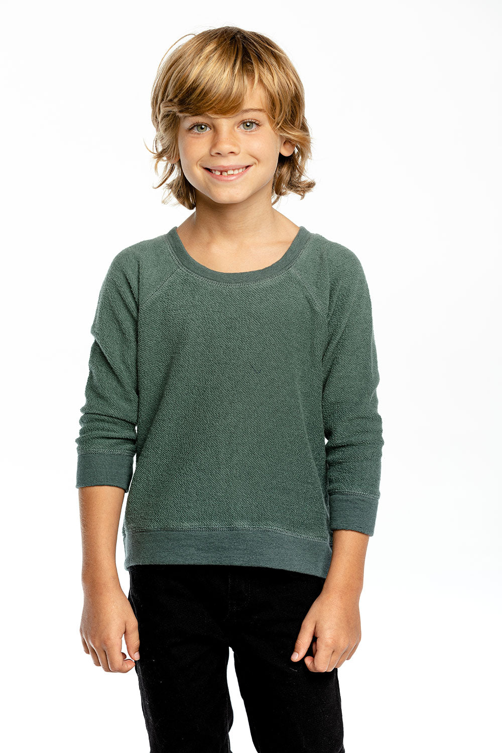 Boys Linen French Terry Long Sleeve Raglan Pullover BOYS - chaserbrand