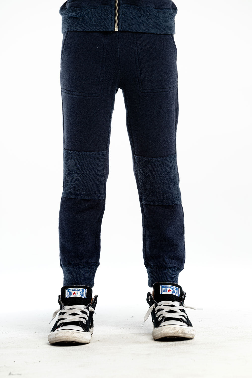 Boys Linen French Terry Raw Edge Paneled Jogger BOYS - chaserbrand