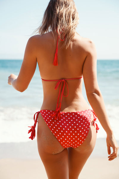 Polka Dots Bikini Top, WOMENS, chaserbrand.com,chaser clothing,chaser apparel,chaser los angeles