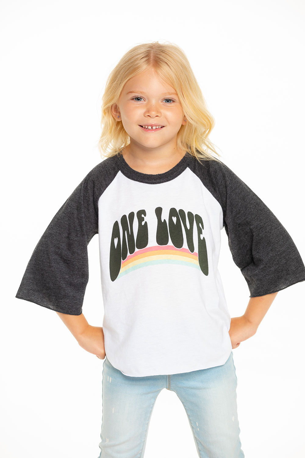 One Love Vintage Baseball Tee GIRLS chaserbrand4.myshopify.com