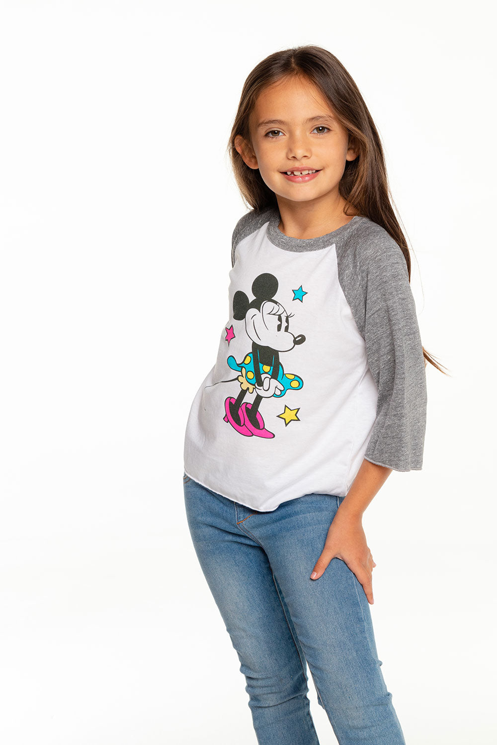 Disney's Minnie Mouse - Classic Minnie Baseball Tee GIRLS chaserbrand4.myshopify.com