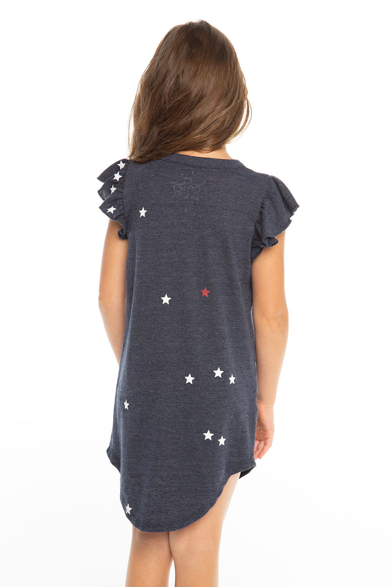 Americana Mini Stars Dress, Girls, chaserbrand.com,chaser clothing,chaser apparel,chaser los angeles