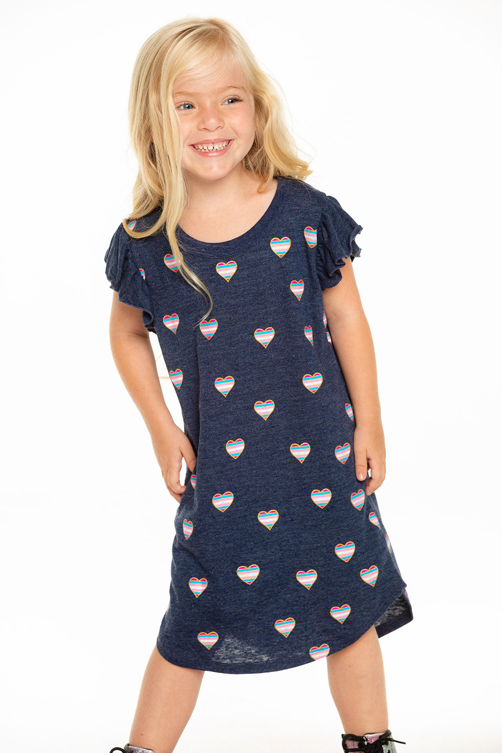 Beach Hearts Dress GIRLS chaserbrand4.myshopify.com