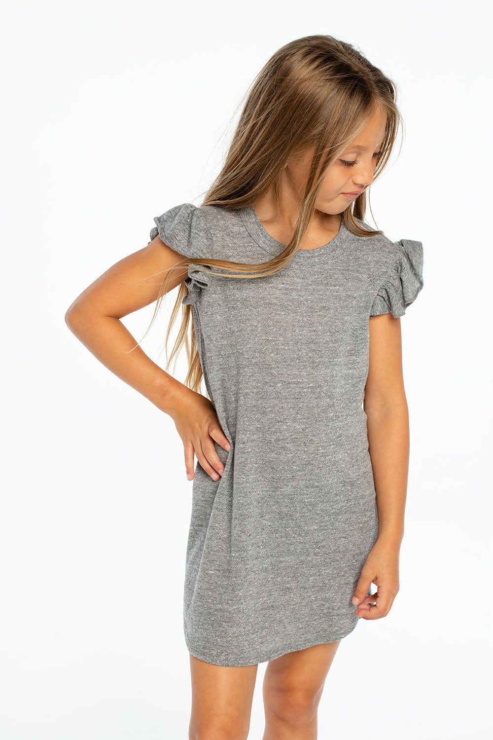 Triblend Flutter Sleeve Shirttail Dress GIRLS chaserbrand4.myshopify.com