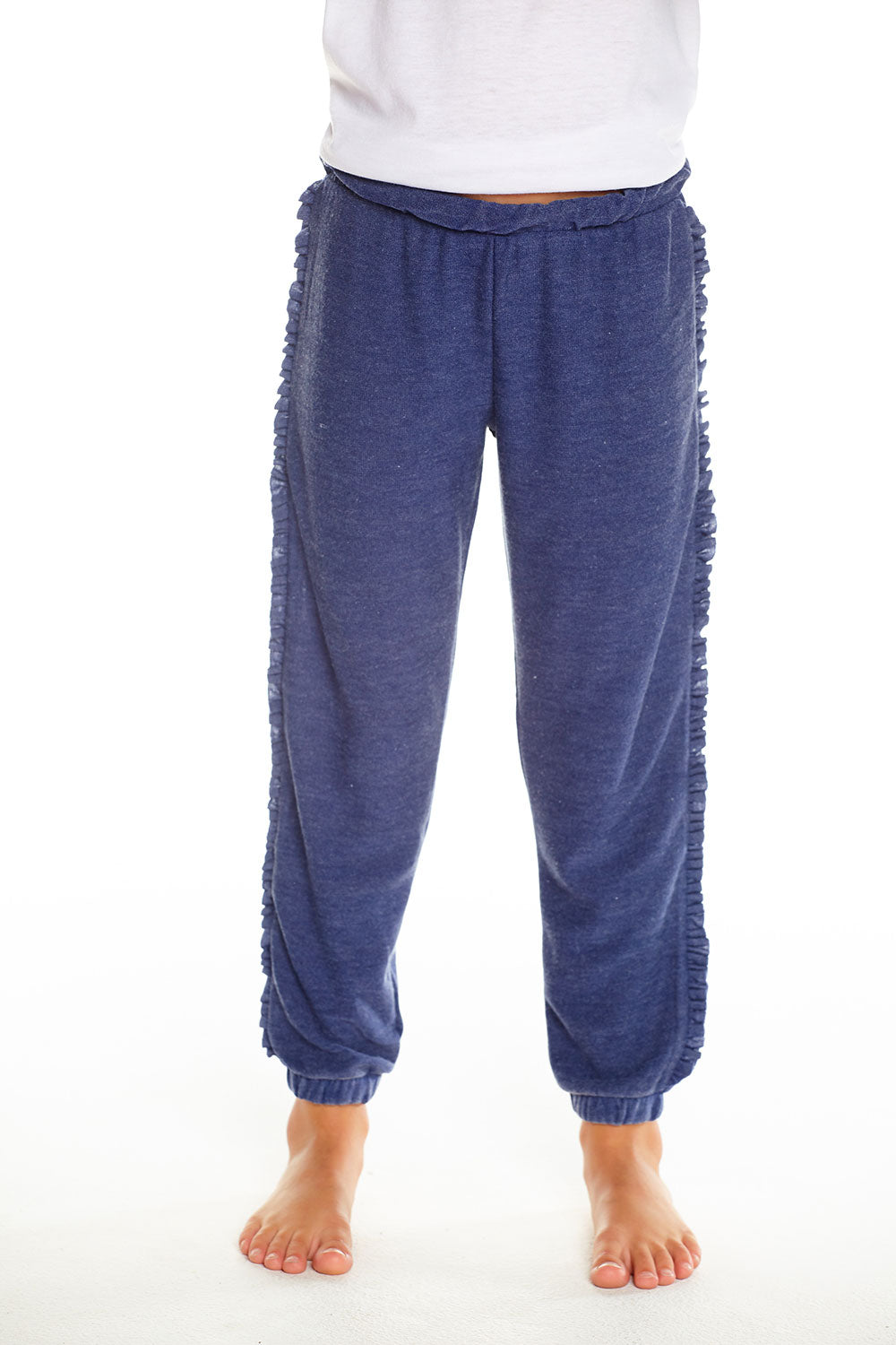 Cozy Knit Slouchy Jogger W/ Ruffle Sides, GIRLS, chaserbrand.com,chaser clothing,chaser apparel,chaser los angeles