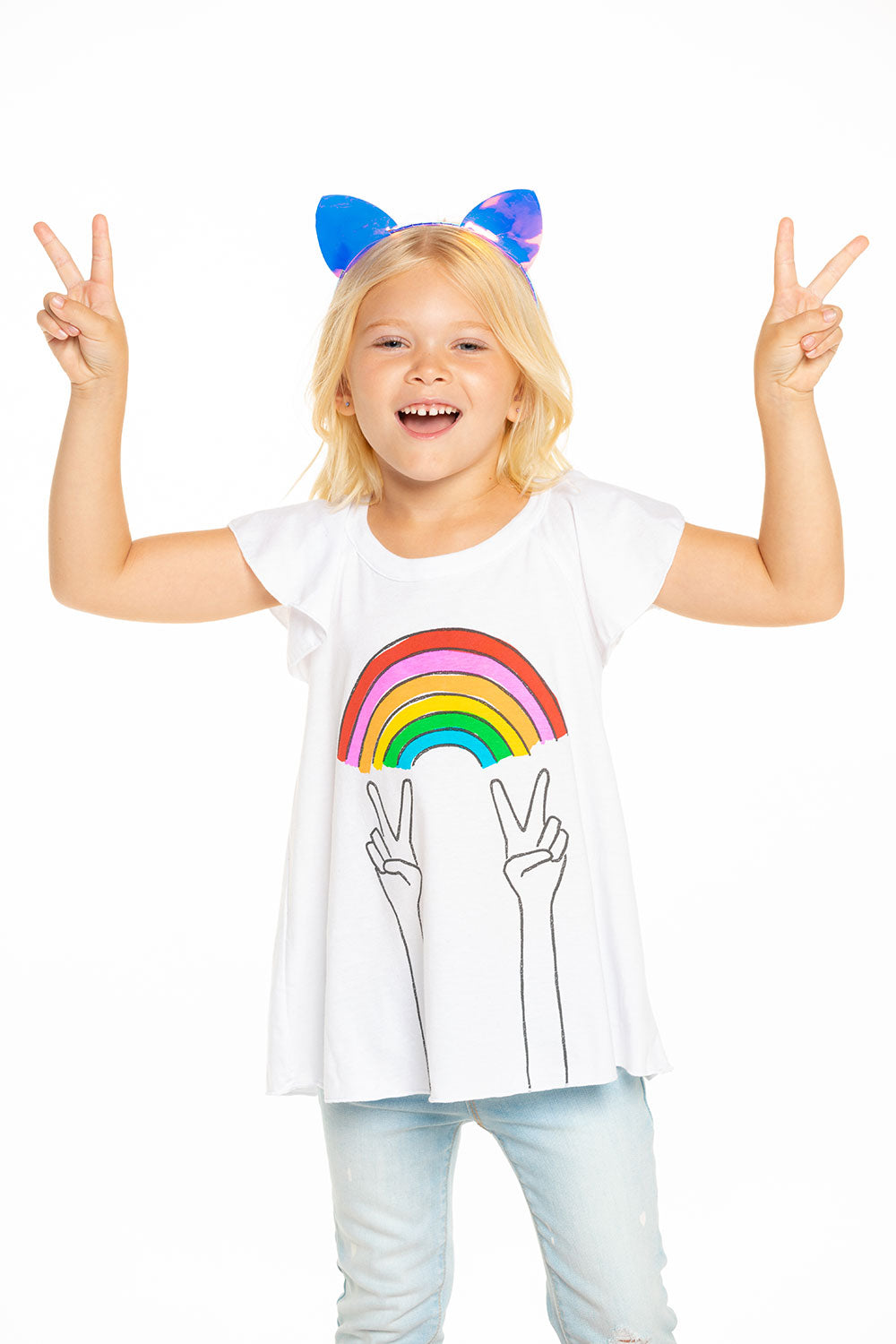 Rainbow Peace Tee Recycled - chaserbrand