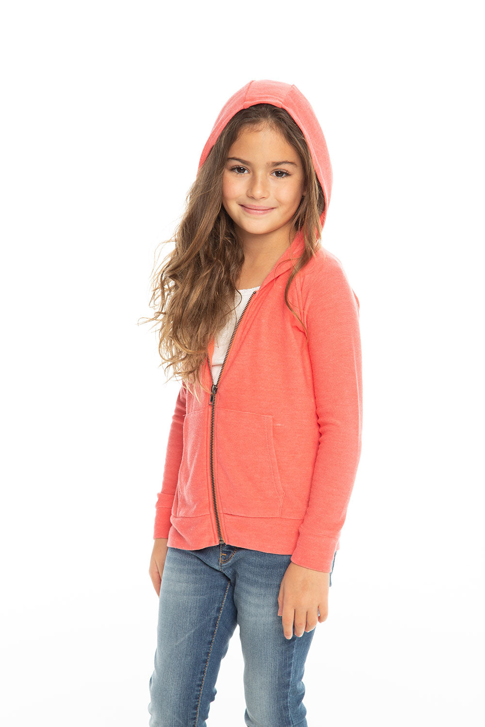 Cozy Knit L/S Zip Up Hoodie Girls chaserbrand4.myshopify.com