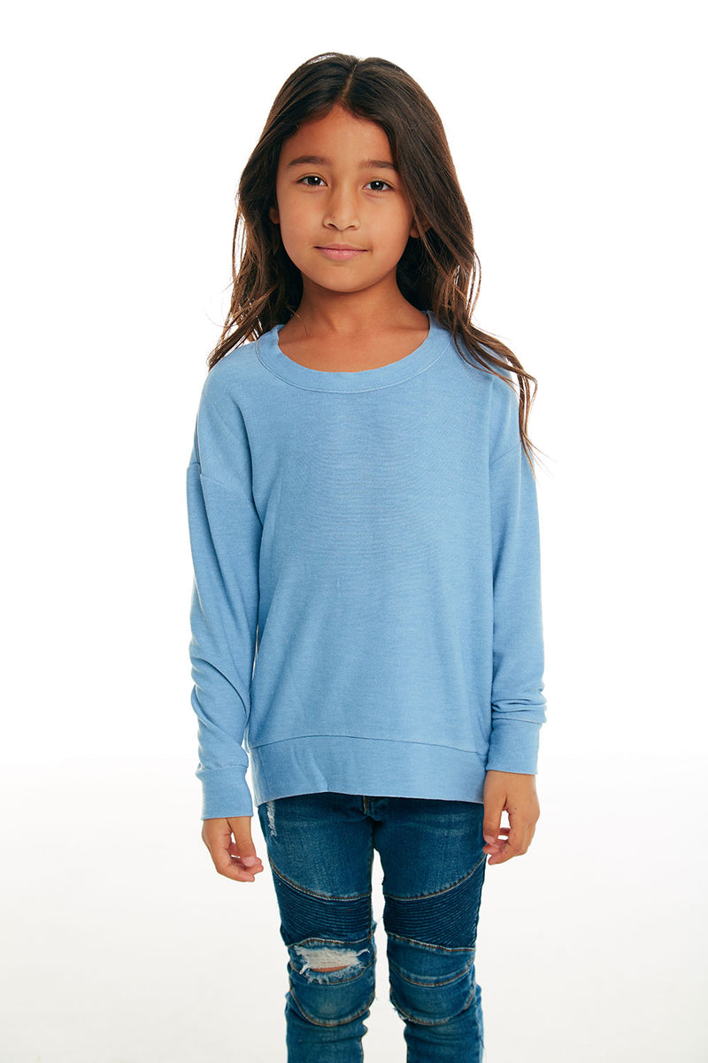 Girls Cozy Knit Boxy Long Sleeve Hi Lo Pullover GIRLS chaserbrand4.myshopify.com