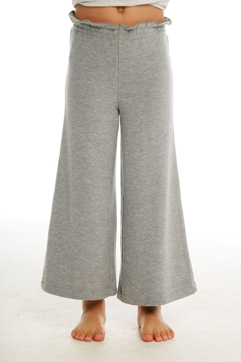 Girls Cozy Knit Paperbag Waist Wide Leg Pant GIRLS chaserbrand4.myshopify.com