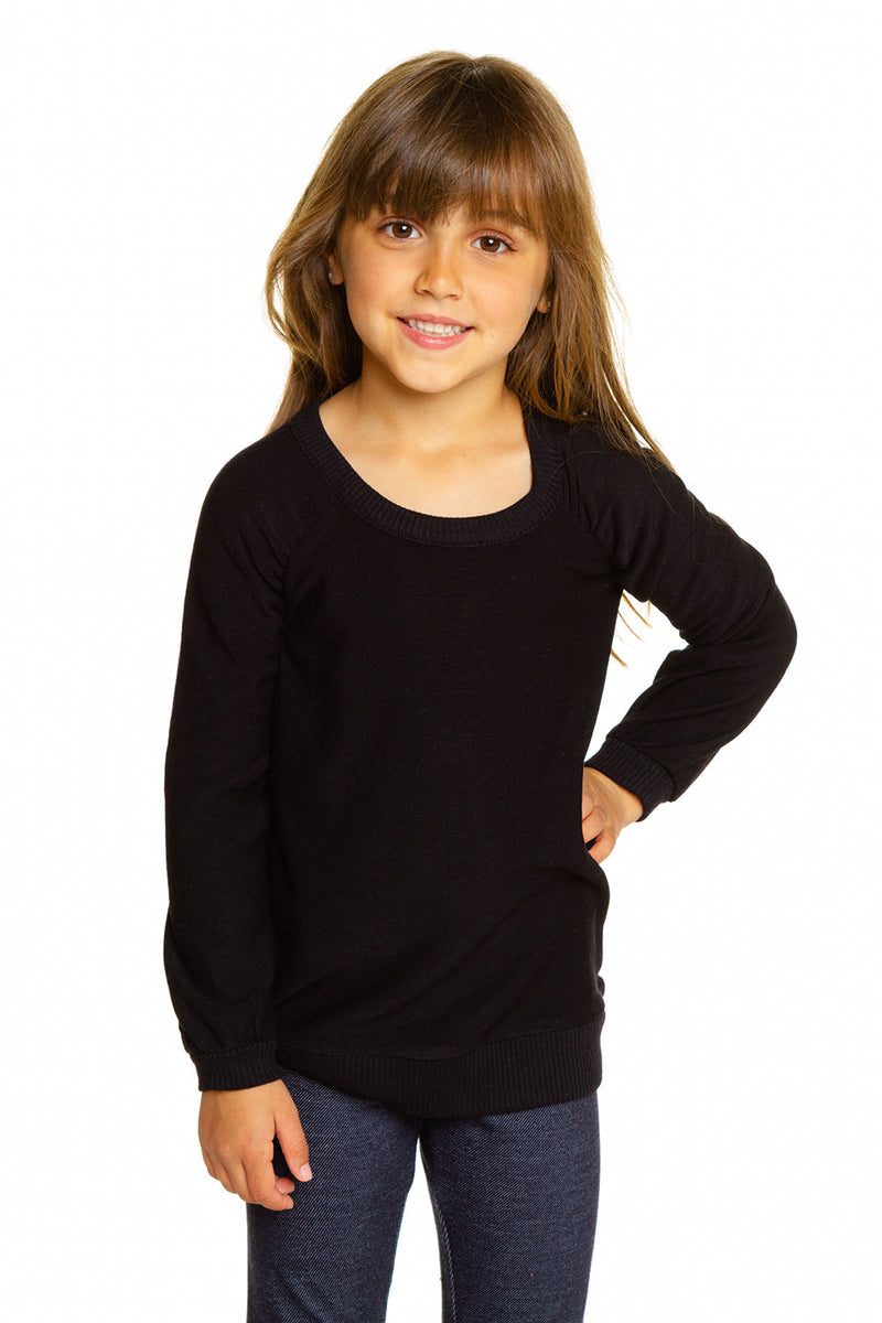 Girls Cozy Knit Puff Long Sleeve Raglan Pullover GIRLS chaserbrand4.myshopify.com