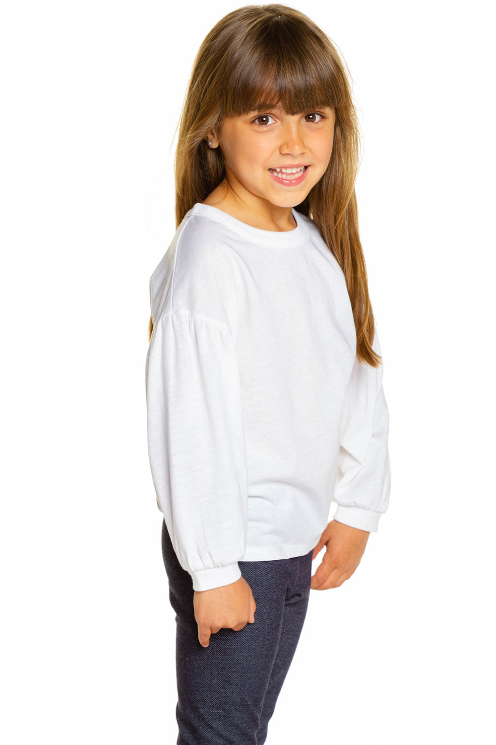 Girls Vintage Jersey Shirred Blouson Sleeve Tee GIRLS chaserbrand4.myshopify.com