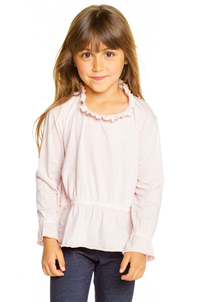 Girls Cozy Knit Flutter Long Sleeve Shirttail Dress GIRLS chaserbrand4.myshopify.com