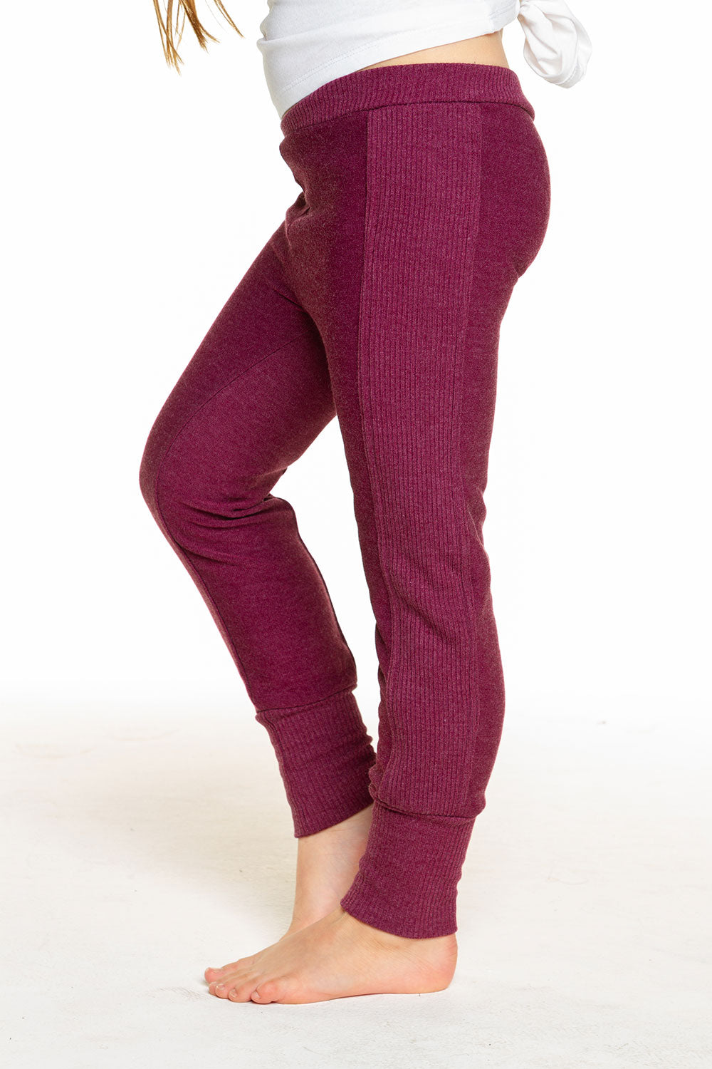 Girls Cozy Knit Rib Panel Legging GIRLS chaserbrand4.myshopify.com