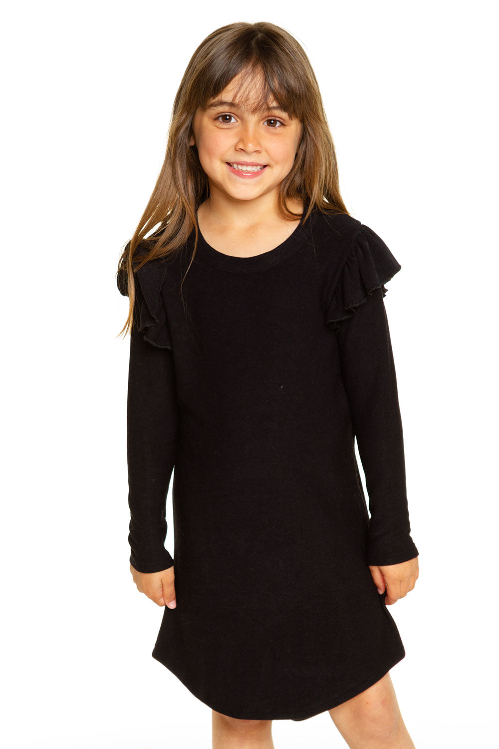 Girls Cozy Knit Flutter Shirttail Dress GIRLS chaserbrand4.myshopify.com