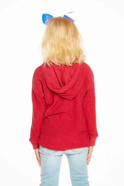 Cozy Knit Hi Lo Pullover Hoodie in Cardinal Red [product_type] chaserbrand4.myshopify.com