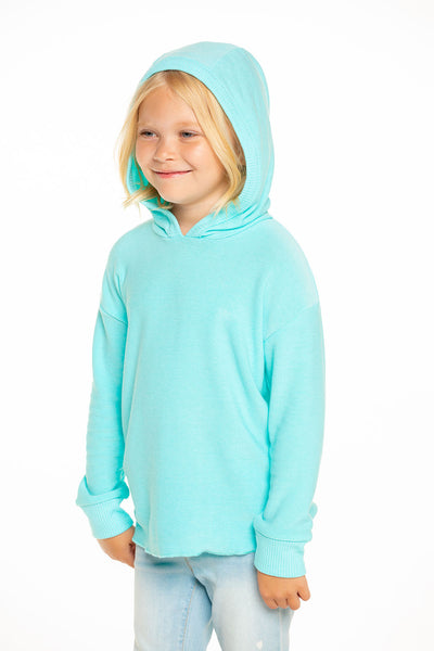 Cozy Knit Hi Lo Pullover Hoodie in Tiffany Blue [product_type] chaserbrand4.myshopify.com