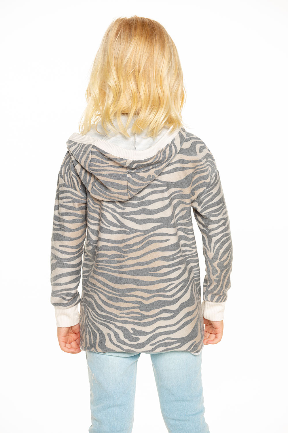 Cozy Knit Hi Lo Pullover Hoodie in Zebra Stripe [product_type] chaserbrand4.myshopify.com