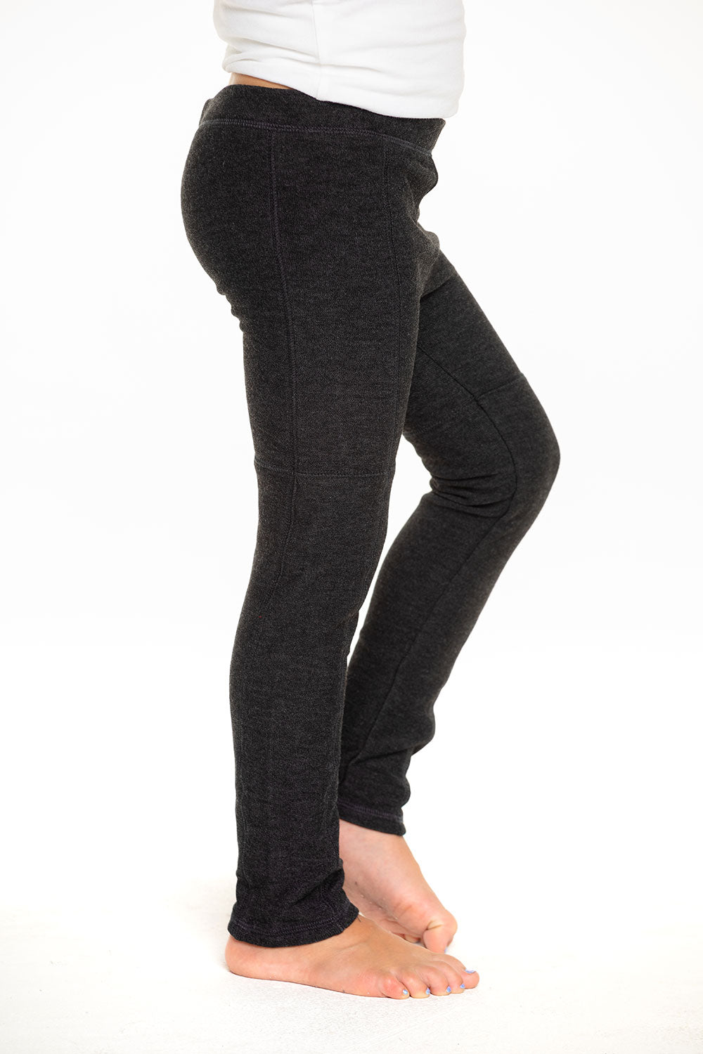 Cozy Knit Seamed Panel Legging in Black [product_type] chaserbrand4.myshopify.com