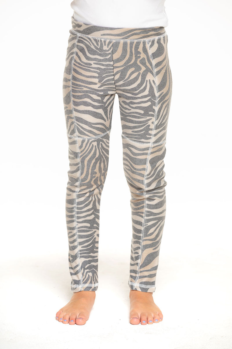 Cozy Knit Seamed Panel Legging in Zebra Stripe [product_type] chaserbrand4.myshopify.com