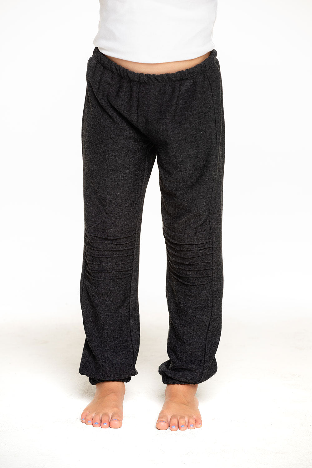 Cozy Knit Slouchy Moto Jogger in Black