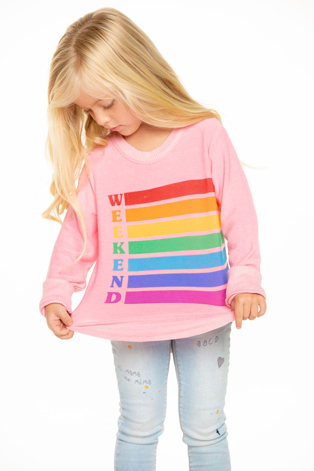 Childrens Love and Peace Sweater Boys Girls Printed Sweater