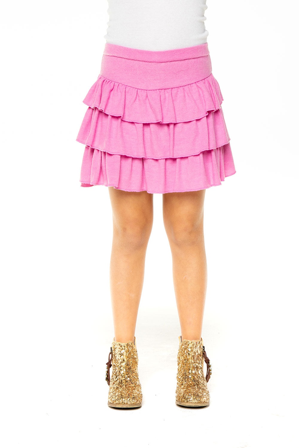 Girls Love Knit Tiered Ruffle Skort RECYCLED chaserbrand4.myshopify.com