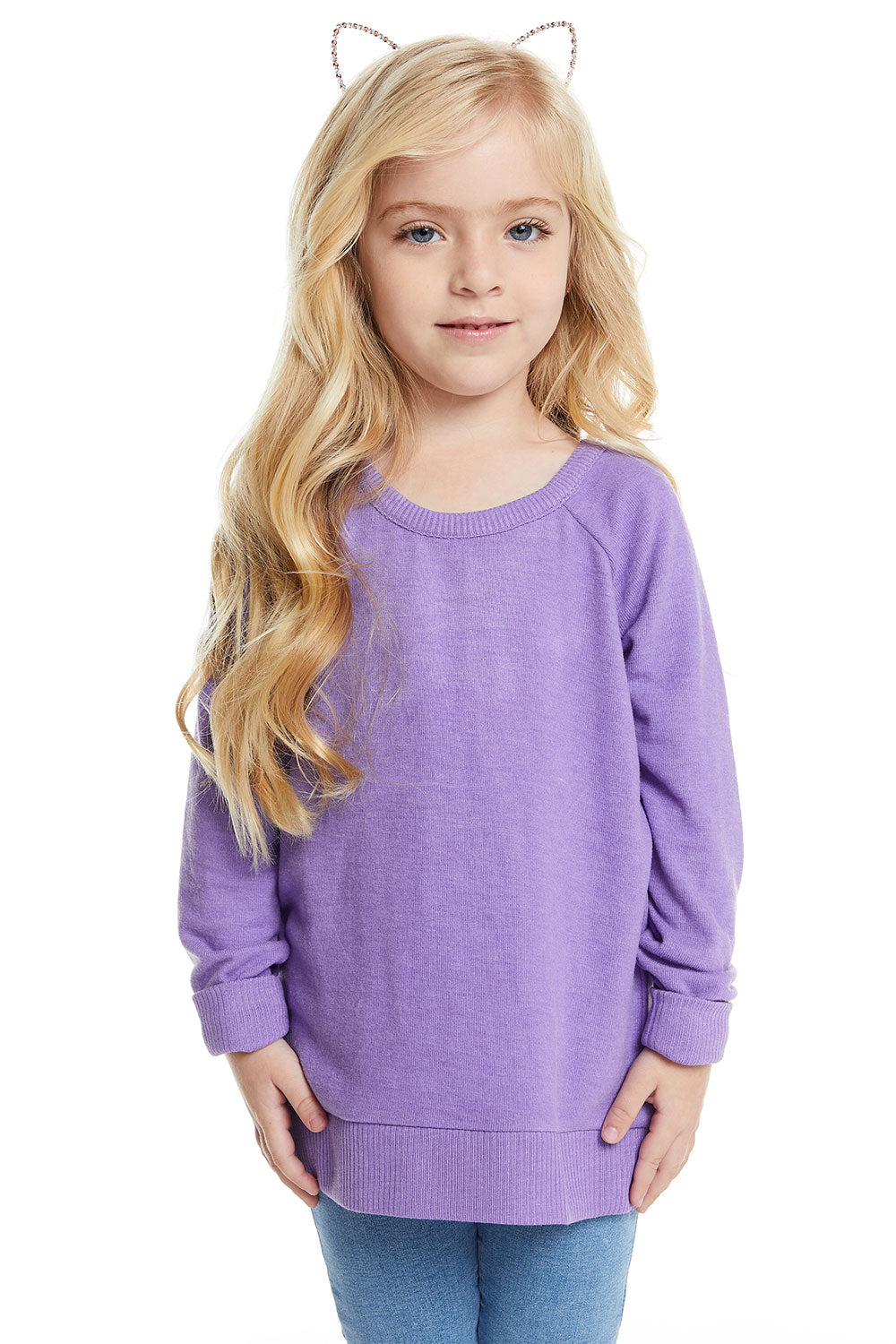 Girls Love Knit Long Sleeve Scoop Back Pullover GIRLS chaserbrand4.myshopify.com