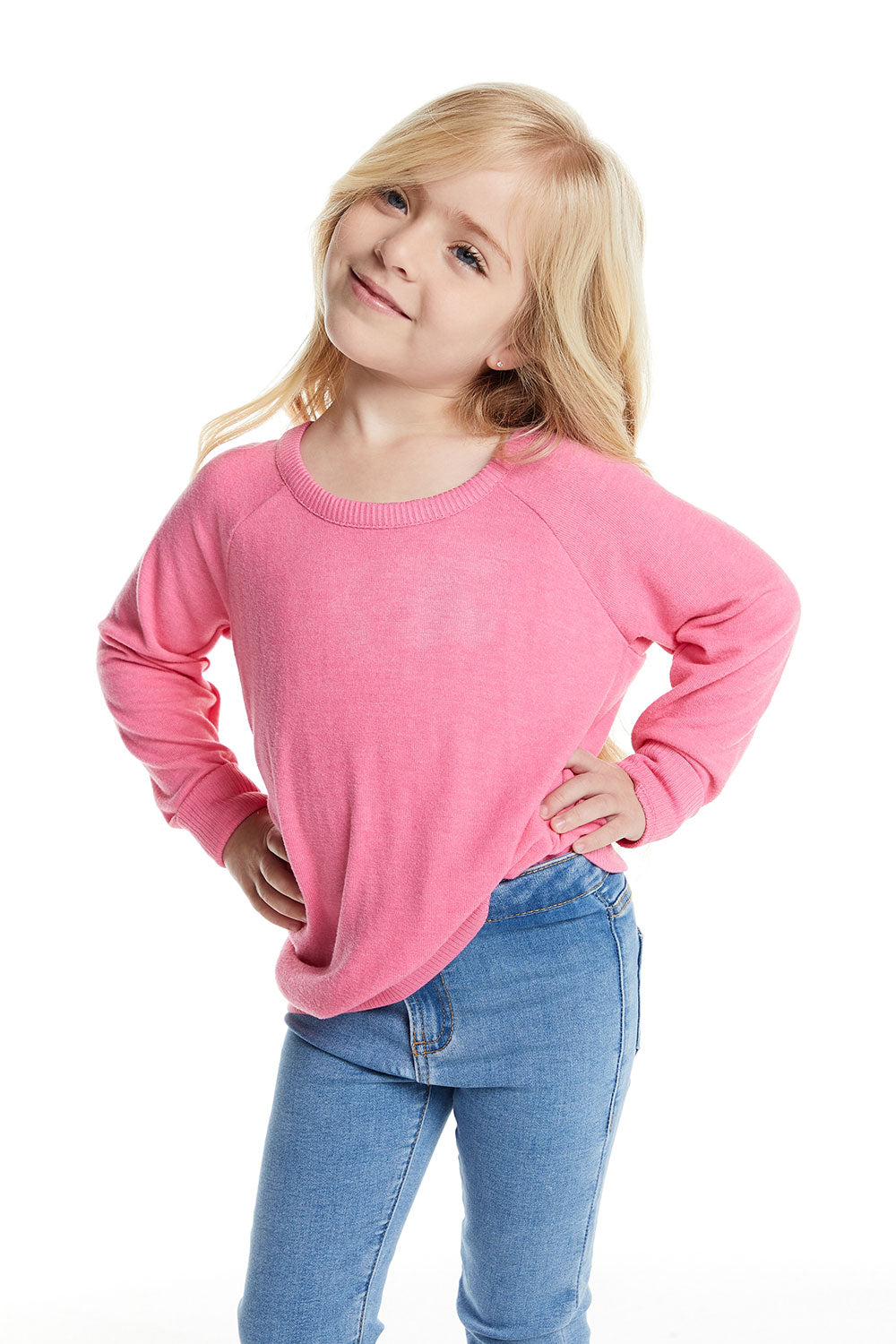 Girls Love Knit Long Sleeve Scoop Back Pullover BCA chaserbrand4.myshopify.com