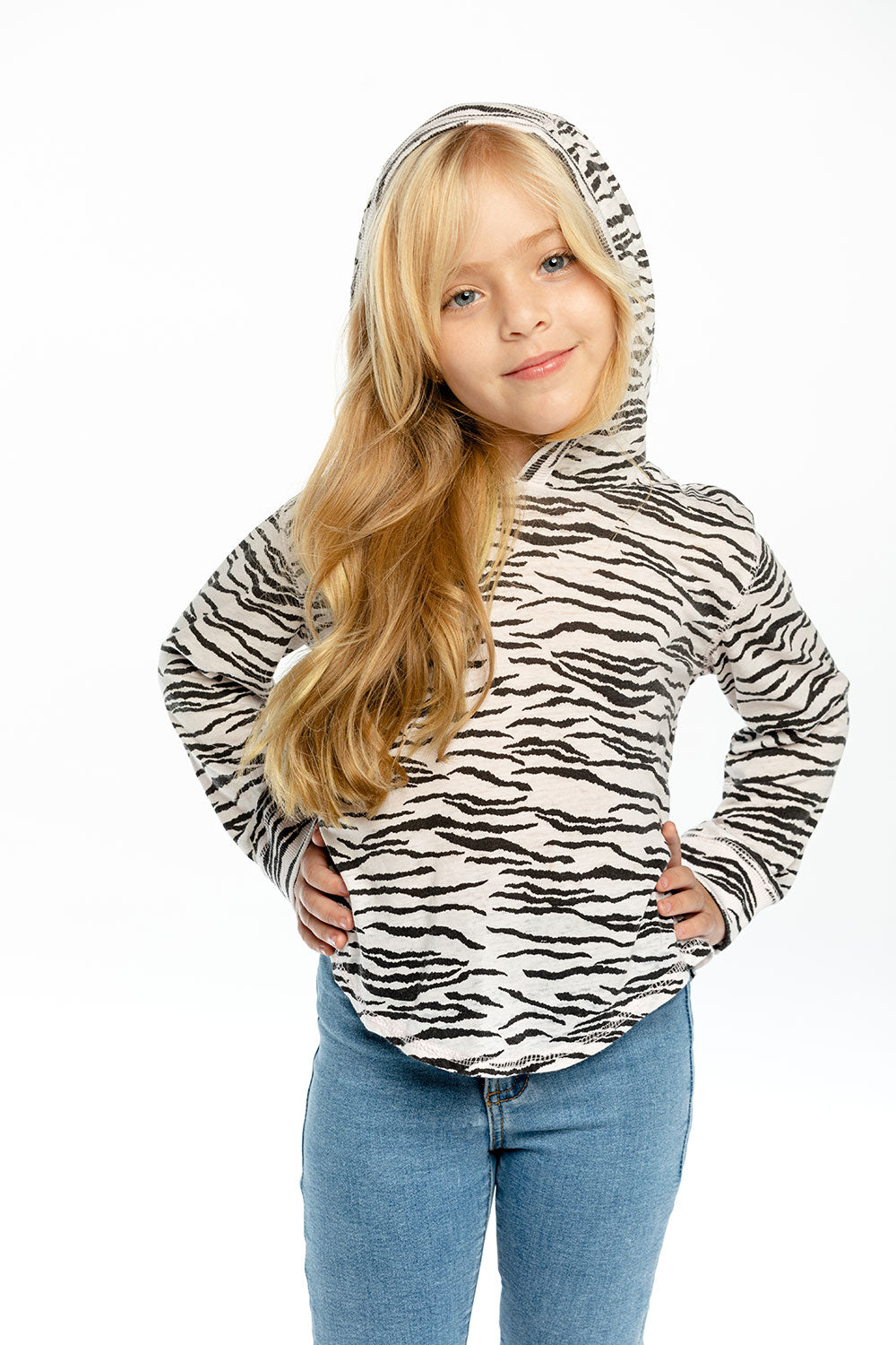 Girls Recycled Vintage Jersey Long Sleeve Shirttail Pullover Recycled chaserbrand4.myshopify.com