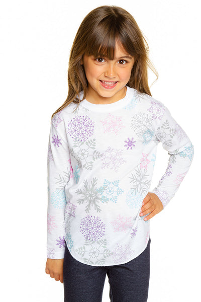 Glitter Snowflakes GIRLS chaserbrand4.myshopify.com
