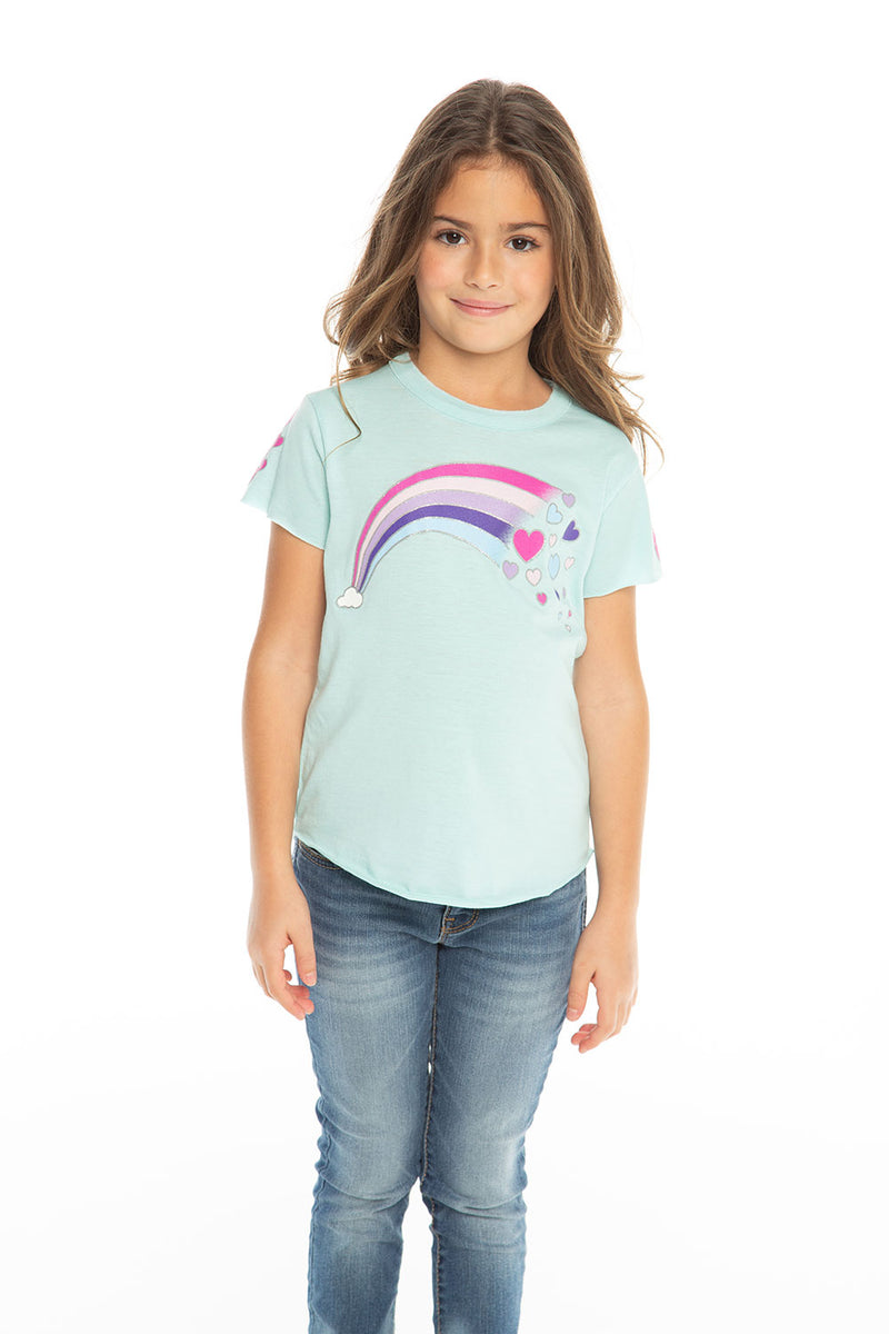Rainbow Hearts, Girls, chaserbrand.com,chaser clothing,chaser apparel,chaser los angeles