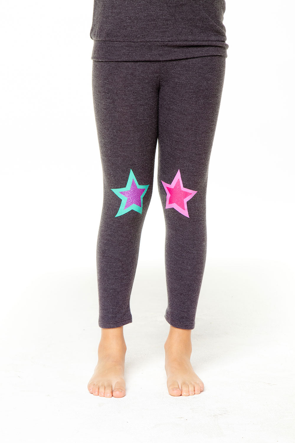 Glitter Star Leggings GIRLS chaserbrand4.myshopify.com