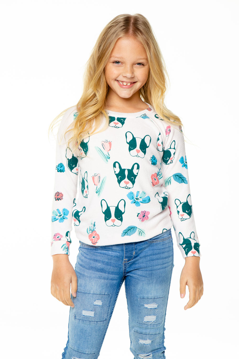 Dogs and Flowers Charity Sweatshirt GIRLS chaserbrand4.myshopify.com