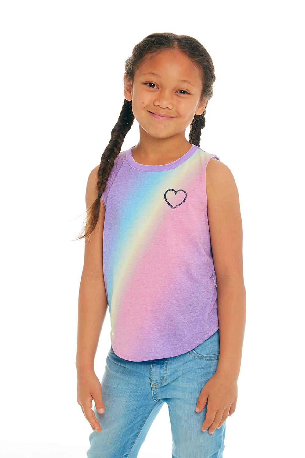 Rainbow Heart GIRLS chaserbrand4.myshopify.com