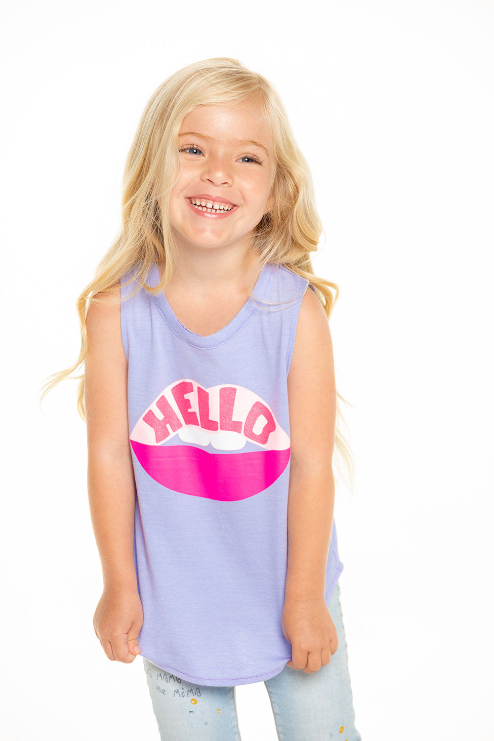 Hello Lips Muscle Tank Recycled - chaserbrand